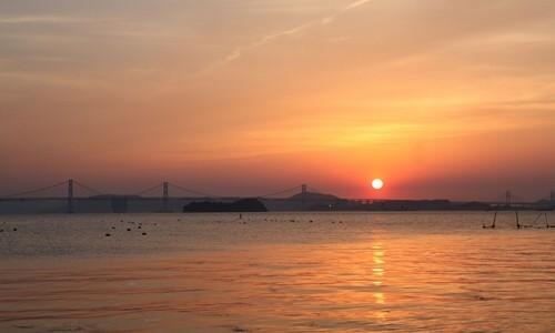 2014.5.7 瀬戸大橋と夕陽 (7).JPG