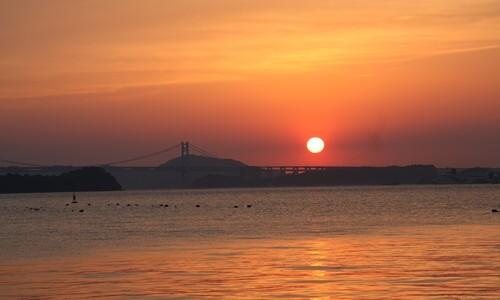 2014.5.7 瀬戸大橋と夕陽 (9).JPG